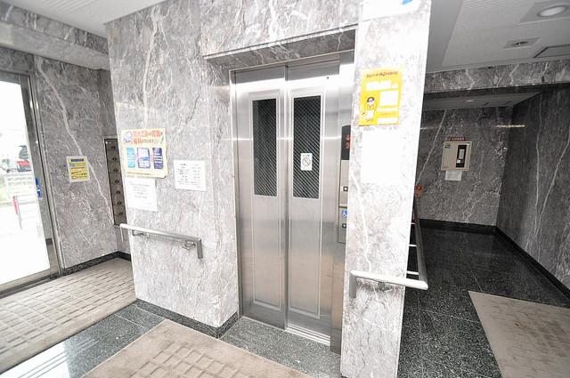 トリニティ加美東 エレベーター付き。これで重たい荷物があっても安心ですね。