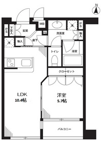 ウィンベル神楽坂2階Fの間取り画像
