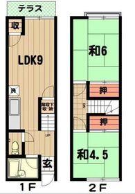 メゾン青葉2階Fの間取り画像