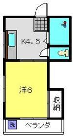 福田ビル4階Fの間取り画像