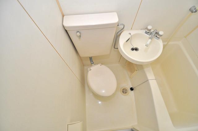 キャピタル今里 シャワー1本で水回りが簡単に掃除できますね。