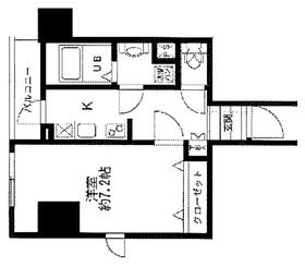 モーニングサイド銀座11階Fの間取り画像