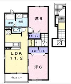 アクティブⅡ2階Fの間取り画像
