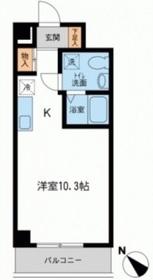 RJRプレシア新横浜 (旧アーバンパーク新横浜)4階Fの間取り画像