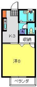 上星川駅 徒歩4分1階Fの間取り画像
