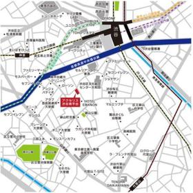 アクセリス渋谷南平台案内図