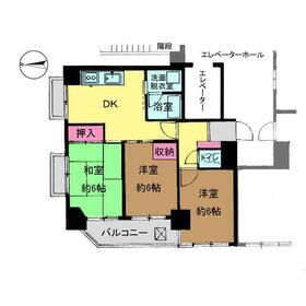 下赤塚駅 徒歩6分3階Fの間取り画像