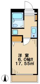 アンティーブ2階Fの間取り画像