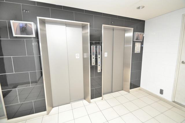 CASSIA高井田NorthCourt 嬉しい事にエレベーターがあります。重い荷物を持っていても安心