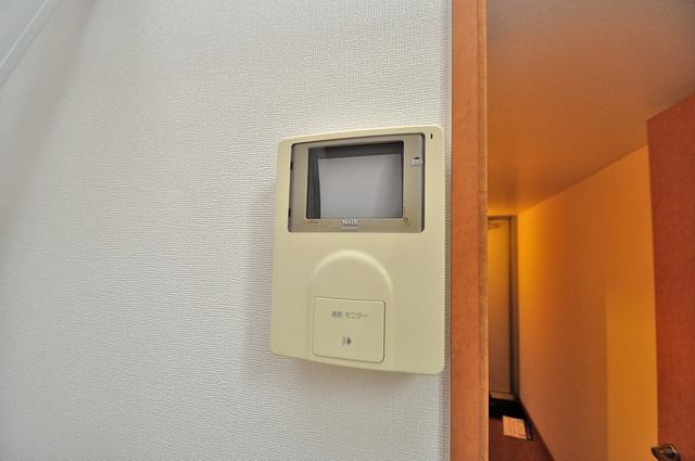 レオパレスフセアジロミナミ モニター付きインターフォンでセキュリティ対策もバッチリ。
