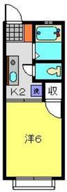 横浜駅 バス14分「峰沢町」徒歩4分2階Fの間取り画像