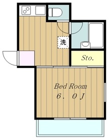 ハウスメモリアル11階Fの間取り画像