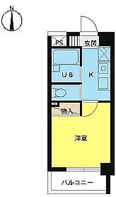 スカイコート神楽坂第26階Fの間取り画像