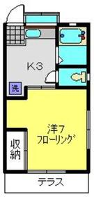 セピアコート神大寺1階Fの間取り画像