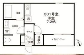 アクイラ・モンテ目黒3階Fの間取り画像