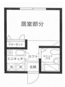 ハーミットクラブハウス鶴ヶ峰D棟1階Fの間取り画像