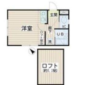 スブニール横浜1階Fの間取り画像