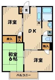 コーム中原2階Fの間取り画像