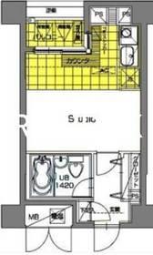 メゾン・ド・ヴィレ東神田10階Fの間取り画像