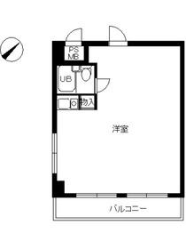 スカイコート横浜日ノ出町8階Fの間取り画像