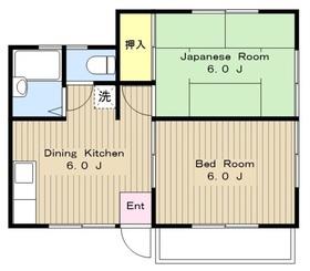 鶴間駅 徒歩11分2階Fの間取り画像