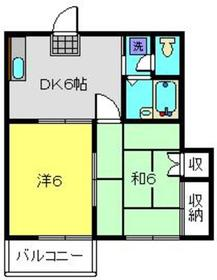 ドエル大倉山1階Fの間取り画像