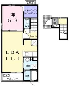 ラ ヴィータ フェリーチェ2階Fの間取り画像
