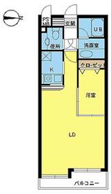 ヴァンテアンライフ高円寺壱番館1階Fの間取り画像
