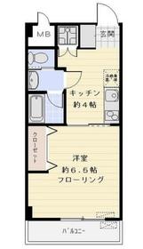 永谷リヴュール新宿4階Fの間取り画像