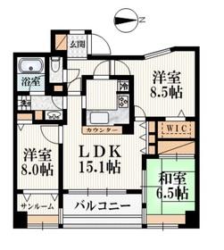 コスモフォーラム所沢4階Fの間取り画像