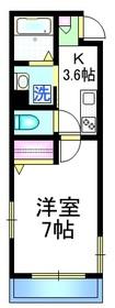 Anne Shirley2階Fの間取り画像