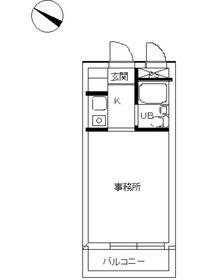スカイコート西横浜54階Fの間取り画像