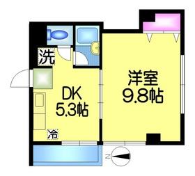 ハイムYNビル8階Fの間取り画像