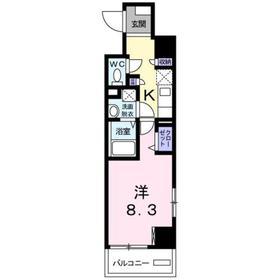 ホワイトマーベル8階Fの間取り画像