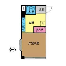 恩田赤塚ビル2階Fの間取り画像