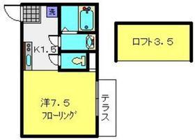 ヨコハマフォーチュンクッキー1階Fの間取り画像