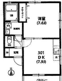 八丁畷駅 徒歩14分3階Fの間取り画像