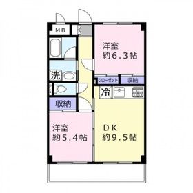 サンタローゼ4階Fの間取り画像