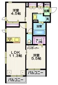 (仮称)八潮市南川崎メゾン2階Fの間取り画像