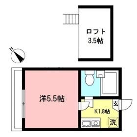 小田急相模原駅 徒歩12分2階Fの間取り画像