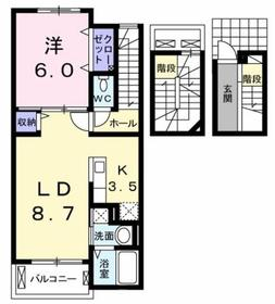 昭島駅 徒歩12分3階Fの間取り画像