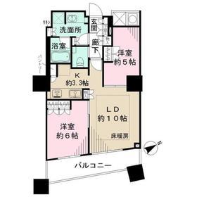ザ・パークハウス西新宿タワー6034階Fの間取り画像
