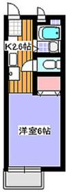 ハイツM&S2階Fの間取り画像