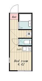 鶴間駅 徒歩5分2階Fの間取り画像