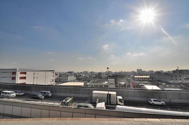 SERENITE高井田(セレニテ) この見晴らしが日当たりのイイお部屋を作ってます。
