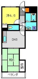 サンハイツⅢ2階Fの間取り画像