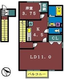 ファミーリエⅡ2階Fの間取り画像