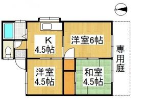 内藤コーポ1階Fの間取り画像