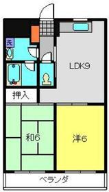 スカイコート21参番館2階Fの間取り画像