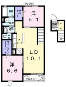 リヤン4階Fの間取り画像